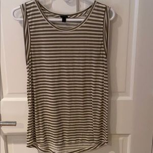 Sleeveless stripped tank